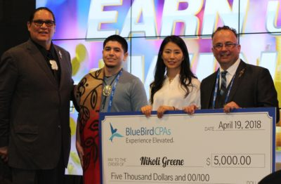 The BlueBird Certified Public Accountants Scholarship for Native American Accounting Students 2018 Recipient